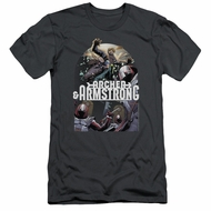 Archer & Armstrong Slim Fit Shirt Dropping In Charcoal T-Shirt