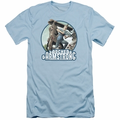 Archer & Armstrong Slim Fit Shirt Smack Down Light Blue T-Shirt