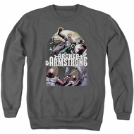 Archer & Armstrong Sweatshirt Dropping In Adult Charcoal Sweat Shirt