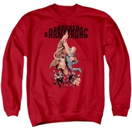 Archer & Armstrong Sweatshirt Hang On Adult Red Sweat Shirt