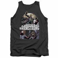 Archer & Armstrong Tank Top Dropping In Charcoal Tanktop