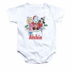 Archie Baby Romper Snowman Fall White Infant Babies Creeper