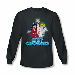 Archie Shirt Why Choose Long Sleeve Charcoal Tee T-Shirt