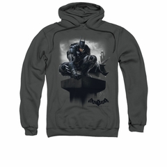 Arkham Knight Hoodie Perched Charcoal Sweatshirt Hoody