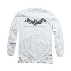 Arkham Knight Shirt Descending Logo Long Sleeve White Tee T-Shirt