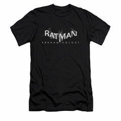 Arkham Knight Shirt Slim Fit Splintered Logo Black T-Shirt