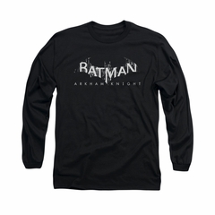 Arkham Knight Shirt Splintered Logo Long Sleeve Black Tee T-Shirt