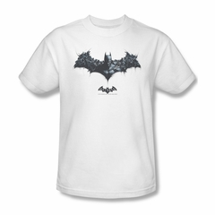 Arkham Origins Shirt Logo Of Enemies White T-Shirt