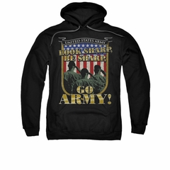Army Hoodie Look Sharp Black Sweatshirt Hoody
