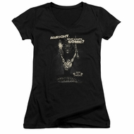 Army Of Darkness Juniors V Neck Shirt Want Some Black T-Shirt