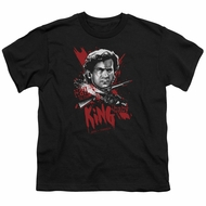 Army Of Darkness Kids Shirt Hail To The King Black T-Shirt