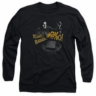 Army Of Darkness Long Sleeve Shirt Klaatu...Barada Black Tee T-Shirt
