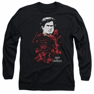 Army Of Darkness Long Sleeve Shirt Pile Of Baddies Black Tee T-Shirt