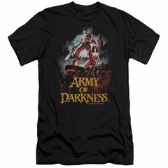 Army Of Darkness Slim Fit Shirt Bloody Poster Black T-Shirt
