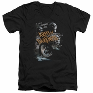 Army Of Darkness Slim Fit V-Neck Shirt Covered Black T-Shirt
