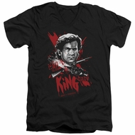 Army Of Darkness Slim Fit V-Neck Shirt Hail To The King Black T-Shirt