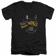 Army Of Darkness Slim Fit V-Neck Shirt Klaatu...Barada Black T-Shirt