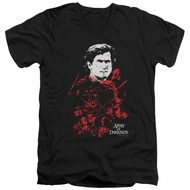 Army Of Darkness Slim Fit V-Neck Shirt Pile Of Baddies Black T-Shirt