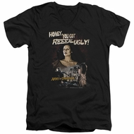 Army Of Darkness Slim Fit V-Neck Shirt Reeeal Ugly! Black T-Shirt