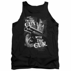 Army Of Darkness Tank Top Guy With The Gun Black Tanktop