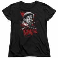 Army Of Darkness Womens Shirt Hail To The King Black T-Shirt