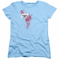 Army Of Darkness Womens Shirt S Mart Name Tag Light Blue T-Shirt