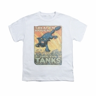 Army Shirt Kids Treat Em' Rough White T-Shirt