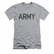 Army Shirt Slim Fit PT Gear Athletic Heather T-Shirt