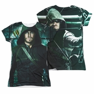 Arrow Shirt Hooded Sublimation Juniors Shirt