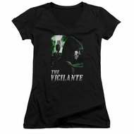 Arrow Shirt Juniors V Neck The Vigilante Black T-Shirt