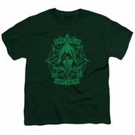 Arrow Shirt Kids Archer Illustration Hunter Green T-Shirt