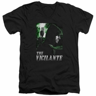 Arrow Shirt Slim Fit V-Neck The Vigilante Black T-Shirt
