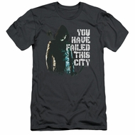 Arrow Shirt Slim Fit You Have Failed Charcoal T-Shirt