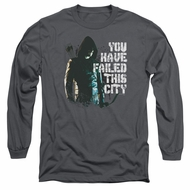 Arrow Shirt You Have Failed Long Sleeve Charcoal Tee T-Shirt