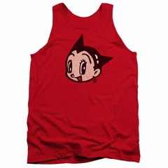 Astro Boy Tank Top Face Red Tanktop