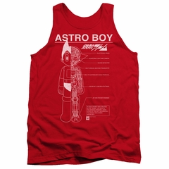 Astro Boy Tank Top Schematics Red Tanktop