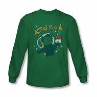 Astro Pop Shirt Astro Boy Long Sleeve Kelly Green Tee T-Shirt