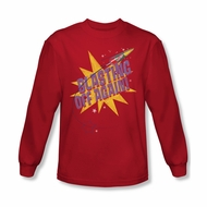 Astro Pop Shirt Blast Off Long Sleeve Red Tee T-Shirt