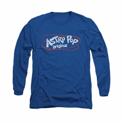 Astro Pop Shirt Vintage Logo Long Sleeve Royal Blue Tee T-Shirt