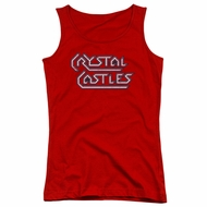 Atari Juniors Tank Top Crystal Castles Logo Red Tanktop