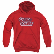 Atari Kids Hoodie Crystal Castles Logo Red Youth Hoody