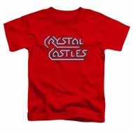 Atari Kids Shirt Crystal Castles Logo Red T-Shirt