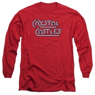 Atari Long Sleeve Shirt Crystal Castles Logo Red Tee T-Shirt