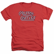 Atari Shirt Crystal Castles Logo Heather Red T-Shirt