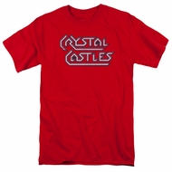 Atari Shirt Crystal Castles Logo Red T-Shirt
