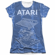 Atari Shirt Inside Out Poly/Cotton Sublimation Juniors T-Shirt