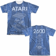 Atari Shirt Inside Out Poly/Cotton Sublimation T-Shirt Front/Back Print