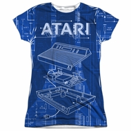 Atari Shirt Inside Out Sublimation Juniors T-Shirt