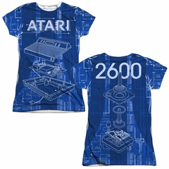 Atari Shirt Inside Out Sublimation Juniors T-Shirt Front/Back Print