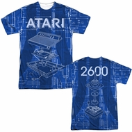 Atari Shirt Inside Out Sublimation T-Shirt Front/Back Print